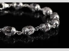 Sphatik Diamond cut bracelet in silver caps 6mm