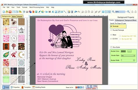 wedding cards design software screenshots  design