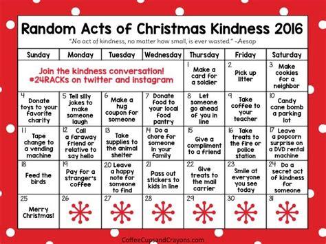 random acts christmas kindness advent calendar advent