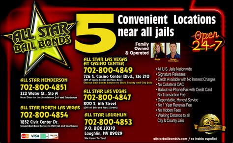 All Star Bail Bonds, Las Vegas, Nv 89101   Yellowbook. Social Worker Degree Colleges. Oscar Lifetime Achievement Award. How To Advertise By Email Crowd Control Signs. University Of Louisville Hospital Billing. Host Files For Download Nursing Schools In Mi. Software Development Small Business. Dealing With Depression Alone. Paralegal Certification Exam