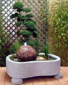 mini teich mit quellfindling in granitwerkstein 187kg With französischer balkon mit wasserrutsche im garten