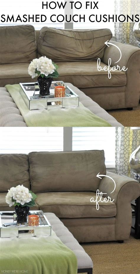 fix smashed couch cushions honey  home