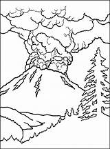 Volcano Coloring Pages Printable Sheet sketch template
