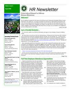 Hr newsletter sample for Hr newsletter template