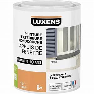 peinture appui de fenetre luxens blanc 1 l leroy merlin With peinture appui de fenetre exterieur