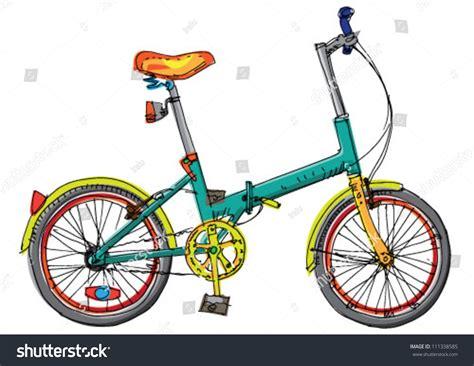 foldable exercise bike folding bicycle stock vector 111338585