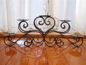 wrought iron table candle holder centerpiece 5 plates ebay
