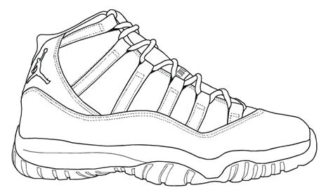 Coloring Jordans by Shoes Coloring Pages At Getcolorings Free