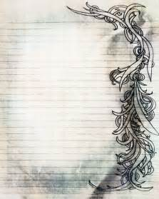 printable charcoal sketch swirl filigree lined journal by