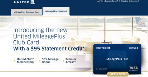 chase united mileageplus club card details released