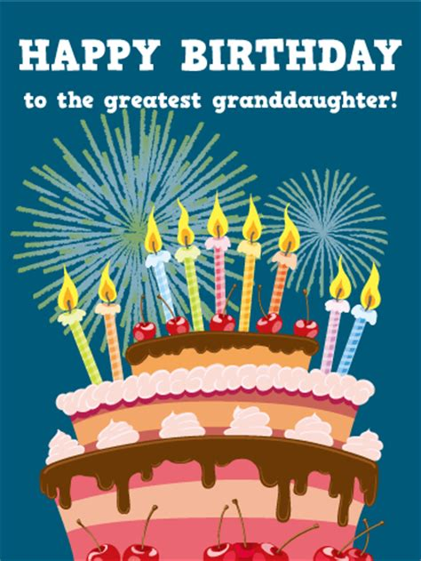 greatest granddaughter happy birthday card