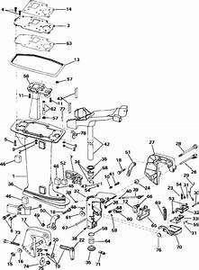 Evinrude Midsection Parts For 1993 8hp E8retb Outboard Motor