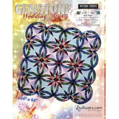 gemstone wedding ring quilt kit gemstone wedding pattern judy niemeyer quiltworx