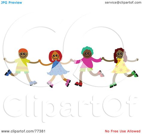 Royalty-Free (RF) Clipart Illustration of a Group Of Four ...
