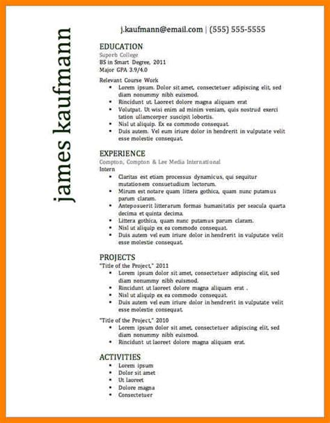 8 most effective resume format g unitrecors