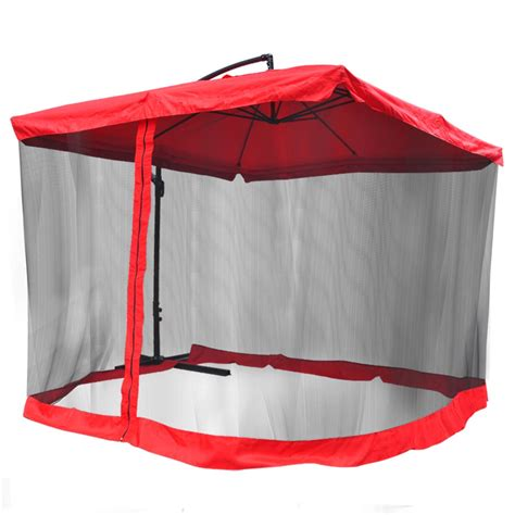 9 square outdoor patio hanging offset aluminum umbrella