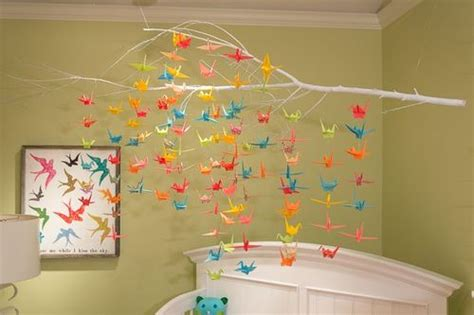 young america blog diy craft project origami crane mobile