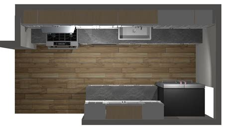 kitchen cabinets top view top view of galley kitchen design 3d rendition by