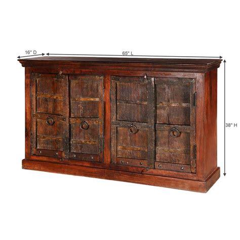 Black Brown Sideboard by Willamette Brown Solid Wood Rustic 4 Door Buffet Cabinet