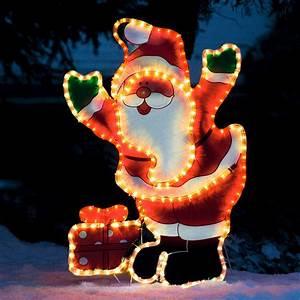 Weihnachtsbeleuchtung Für Draußen : led leucht weihnachtsmann huggy von g rtner p tschke ~ Michelbontemps.com Haus und Dekorationen