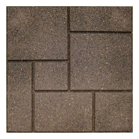 rubber paver tiles home depot envirotile cobblestone 18 in x 18 in earth paver 4