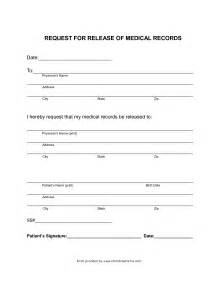 Free Printable Medical Records Release Form