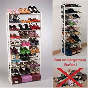 porte chaussures etagere a chaussures meuble de rangement With meuble chaussure grande capacite 14 rangement chaussures a roulettes