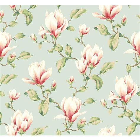 york wallcoverings magnolia branch wallpaper yv
