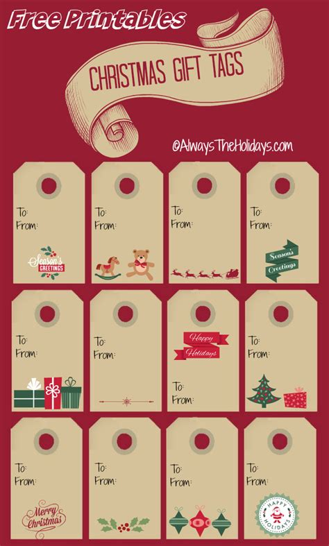 free christmas labels labels print out these gift tags