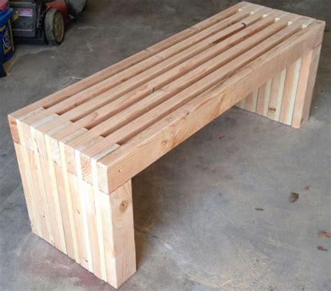 plans   long park bench diy  wood design patio