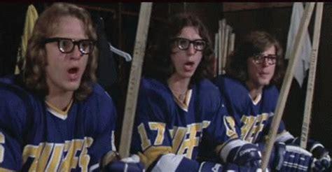slap shot  funny  gifs hockey slap shot