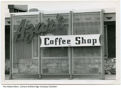 Hubbard & cravens is an indianapolis based specialty coffee roaster nestled along 52nd st that has been sourcing and roasting the highest quality coffees from around the globe since 1991. Azar's Coffee Shop sign, Fort Wayne, Indiana, circa 1955
