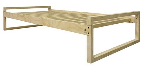 twin xl bed frame solid wood construction  linear