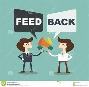 Feedback Concept - Businessman Talk Feedback Speech Bubble ...