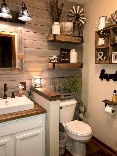 Rustic Chic Bathroom Ideas by 80 Rustic Farmhouse Bathroom Remodel Decor Ideas Master