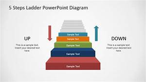5 Steps Ladder Powerpoint Diagram