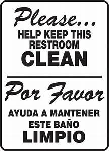 brilliant 20 bathroom sign in spanish decorating design With keep clean bathroom signs