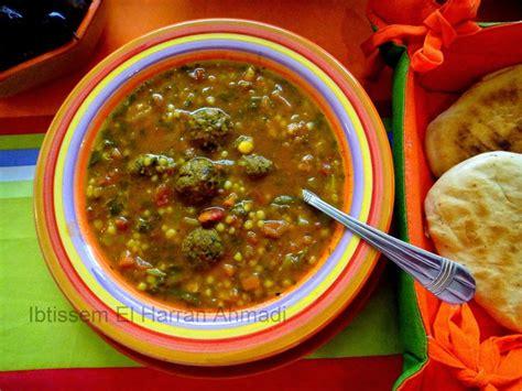 cuisine tunisienne mloukhia mhamsa bil khodra wil ik3abir mhamsa aux légumes et
