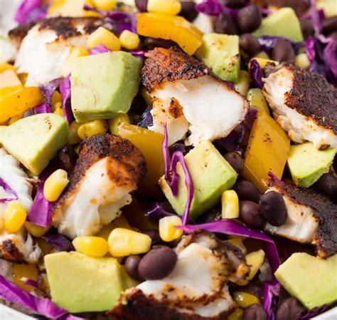 fish recipes blackened taco bowls discover grouper