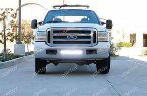 F250 Light Bar Install 120w High Power Led Light Bar For 1999 2007 Ford F 250 F250