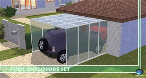 sims 3 garage my sims 3 pool enclosure set green house by sim3tria