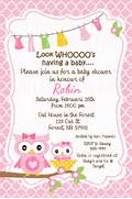 Pink OWL Baby Shower Invitation Card Customize By Free Printable Baby Shower Invitation Chevron Car Text For Baby Shower Invite THERUNTIME COM Baby Shower Baby Shower Invitations Cards Designs Card
