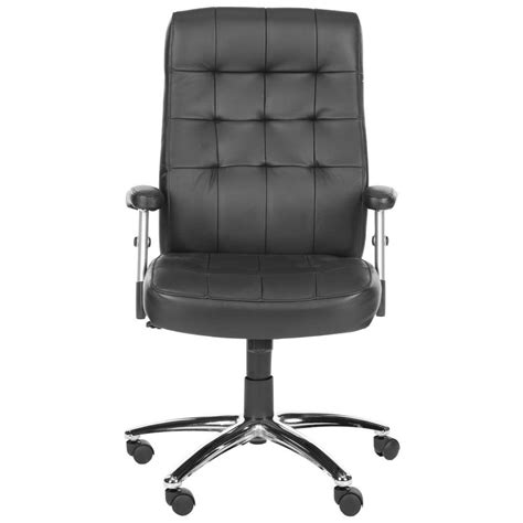 Safavieh Home by Safavieh Olga Black And Black Leather Office Chair