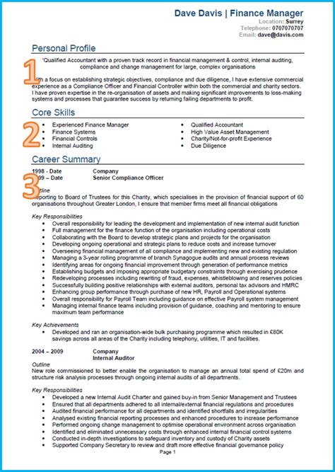 Brief Curriculum Vitae Exle by Exle Of A Cv