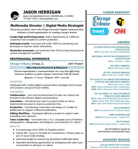 published work on resume awards and published work 171 brand your career