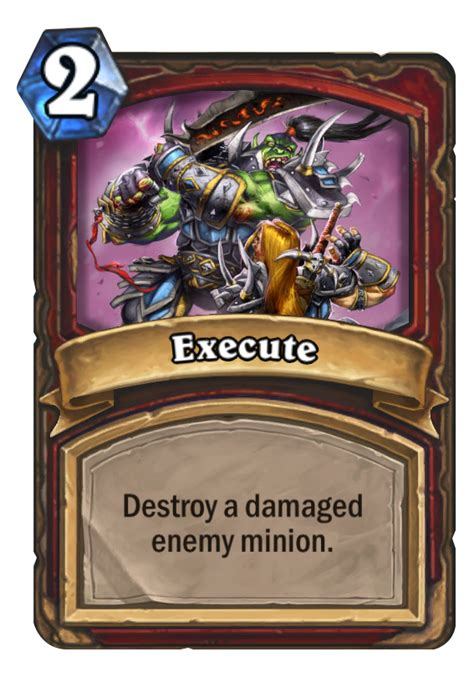 Top Tier Decks Hearthstone by Execute Hearthstone Card