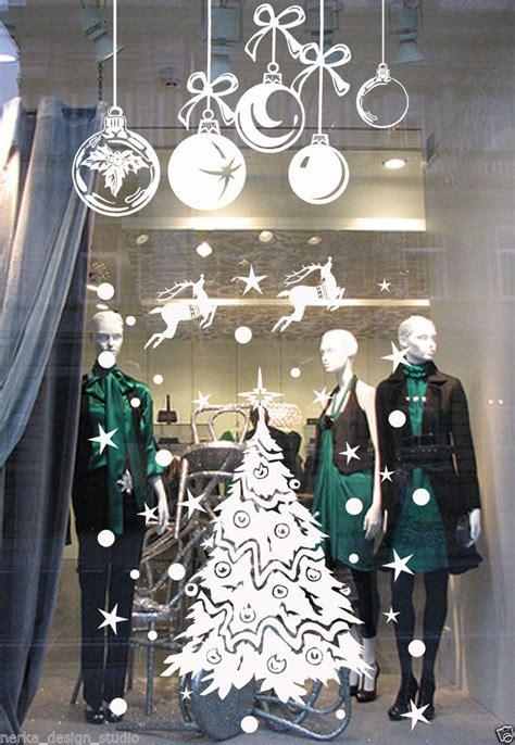 christmas decoration sticker shop window xmas sign
