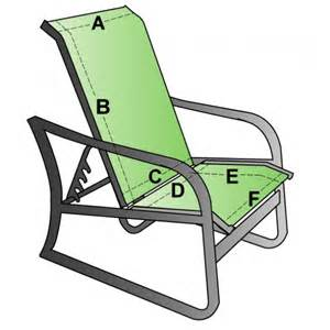custom replacement sling two piece highback chair