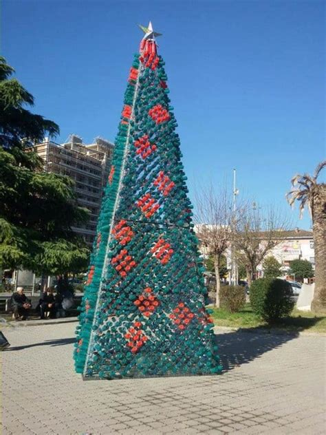 christmas tree   citizens   recycled plastic