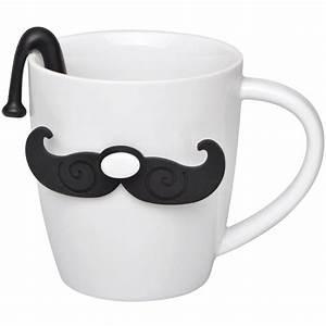 Mug Thé Infuseur : mug et infuseur th gentleman blanc ~ Teatrodelosmanantiales.com Idées de Décoration